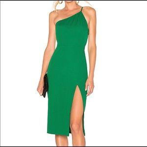 Lovers + Friends green Caleb Lazo midi dress